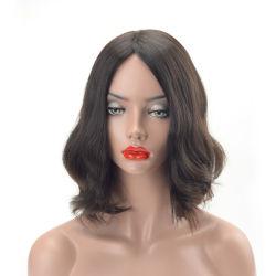 La longitud media de alta calidad rizado cabello virgen mongol peluca judío