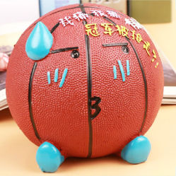 カスタム Savings Basketball Resin Coin Piggy Bank バースデーギフト
