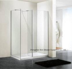 El cuarto de baño ducha Wetroom de vidrio de 6 mm de pared con el panel lateral (MN-WR100)