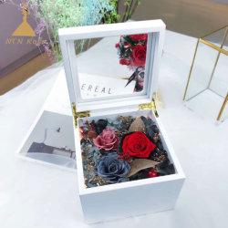 Commerce de gros Belle boîte à musique artisanal en bois avec des conserves de fleurs de Rose
