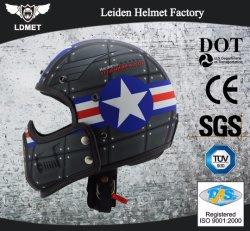 Halley Casco abierto lleno casco casco de motocicleta con máscara