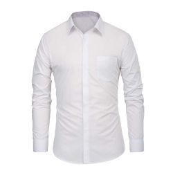 Polyester coton personnalisés adaptés à des hommes d affaires officielles Shirts
