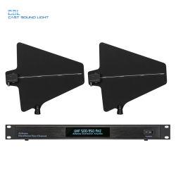 Профессиональные 4CH усилителя антенны системы направления UHF Беспроводная связь для микрофона