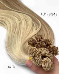 Main liée dans la trame de haute qualité hair extension vierge 10européen d'une année sèche la trame
