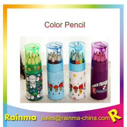 """matita di colore 3.5 """" e 7 """" in tubo di carta con l'affilatrice sulla parte superiore con la stampa personalizzata per il rifornimento promozionale del regalo della cancelleria"""