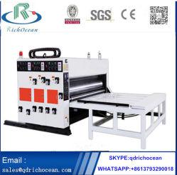 Caja de cartón corrugado semi-automático máquina de impresión Flexo