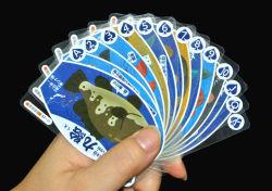 Transferant PVC 해저 세계의 플라스틱 트럼프패 게임