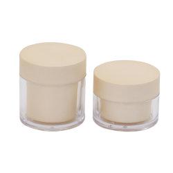 50ml Pet crème cosmétique en plastique transparent Jar Jar pour l'emballage cosmétiques/emballage