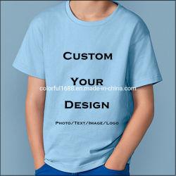 子供の衣服、綿のTシャツ着ている、子供男の子のTシャツ、子供のTシャツ、女の子のTシャツ、短い袖のティーワイシャツ、習慣はTシャツを印刷した