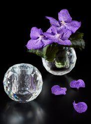 Diseño de bola de cristal de la boda Bud Deco Cristal jarrón de cristal para la boda las flores