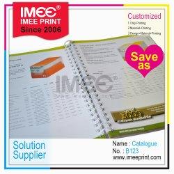 Imee OEM ODM Impreso personalizado de impresión encuadernación en espiral Libro Catálogo B123