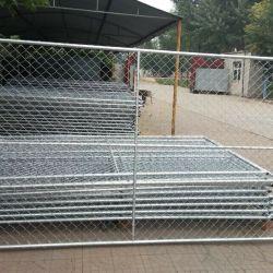 6 футов*12FT оцинкованных съемные временного строительства звено цепи Ограждения панели