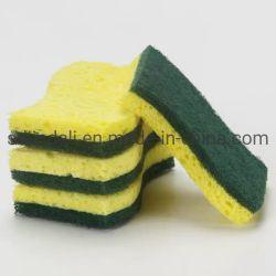 Paño de microfibra de limpieza de cocina una esponja de celulosa