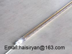 Quartz Emisor de infrarrojos de onda corta chapado en oro lámpara de tungsteno halógeno infrarrojo