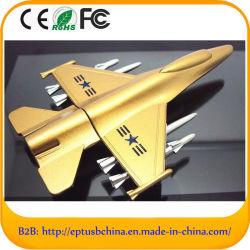 비행기 모양의 메탈 USB 플래시 드라이브 미니 펜 드라이브 16GB 사용자 정의 로고(EM606-B) 포함