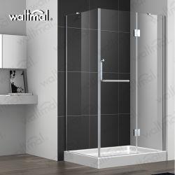 32 X 60 душ люкс матовый никель Archon высокой навесная безрамные двери душ с четкими стекла
