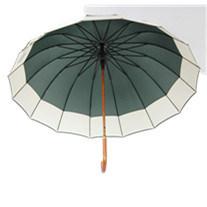 25inch 16panlesの大きい木シャフトのまっすぐな傘