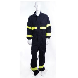 100 % de matériaux ignifuges de résistance au feu Fr Coverall costume de sécurité