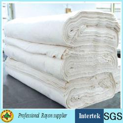 Tessuto di rayon grigio bianco del rifornimento della fabbrica fatto da Air Jet