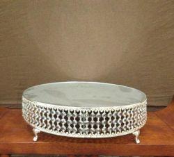 Bolo de corte em metal elegante suporte com cordões de Cristal (CA on-998)