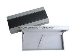 Cassa di carta di plastica del contenitore di imballaggio della penna del regalo di singolo colore d'argento su ordinazione
