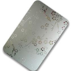 zilveren etst Spiegel 201 304 voor de Bouwmaterialen van het Blad/van de Plaat van het Roestvrij staal