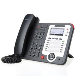 Multilingue 3 lignes de téléphone VoIP d'affaires avec 12 touches programmables