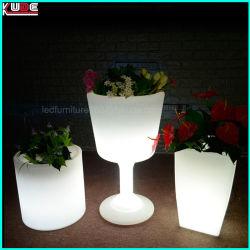 Potenciômetro de flores de plástico LED LED aceso Cup Flower Pot