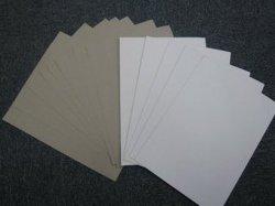 220--400gms de papel duplex Placa cinza/branco