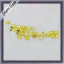 Mooie ronde gele synthetische saffier edelsteen