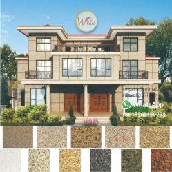 Los nuevos materiales de construcción decoración textura 5D de la pintura de pared exterior de la pintura de granito líquido