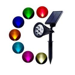 Цветные светодиодные лампы на лужайке солнечной энергии на открытом дворике лампа лампа соединения на массу