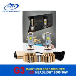 Projecteur à LED de voiture Evitek 6000K lampe Kit de conversion de G3 30W/3000lm 9005 voiture une ampoule de phare à LED avec garantie de 12 mois