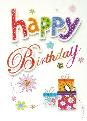 3D Birthday Greeting Cards (CB13-012)