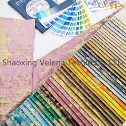 Luxus Soft Plüsch Holland Velvet Färben mit glänzenden Folienpolsterung Möbel Sofa Kissen Bezug Stoff für Heimtextilien