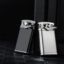Linterna de metal creativo Windproof encendedores encendedor de gas balancín
