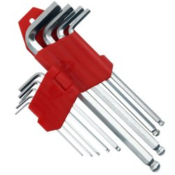 A chave Allen, chave de boca com a ferramenta Mão