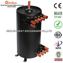 Aletas de cobre de alta eficiencia de la bobina helicoidal de tubo de Shell en el condensador del intercambiador de calor
