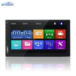 """Betterway 7023b 2 DIN車のマルチメディアの可聴周波プレーヤーのステレオのラジオ7の""""タッチ画面HD MP5プレーヤーサポートBt FM USBのステレオビデオ"""