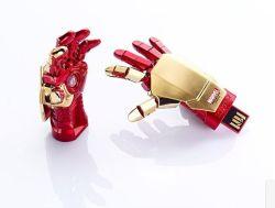 بطاقة الرسومات المتحركة Iron Man USB Flash Stick (OM-M167)