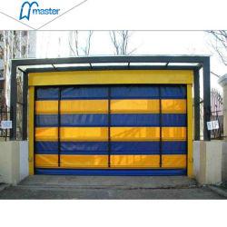 Portello d'impilamento ad alta velocità automatico industriale del PVC di rotolamento della prova del vento per il magazzino