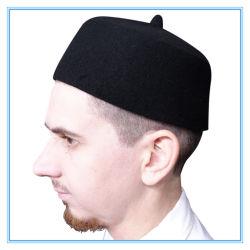 Usine de la Turquie de gros feutre de laine Fès Kufi Hat musulman avec la pointe de la prière Cap