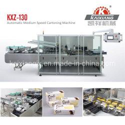 中速度の食糧ビスケットのクッキーのカートンに入れる機械かカートンのパッキング機械