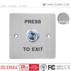 Le contrôle des accès de déverrouillage de porte en métal Bouton Quitter avec LED rétro-éclairage