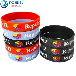 Logo coloré personnalisée en usine Deboss Sport Bracelet en silicone de produits de l'énergie cadeau de promotion de l'activité de l'équipe d'entreprise personnalisés PVC Bracelet en caoutchouc en Chine