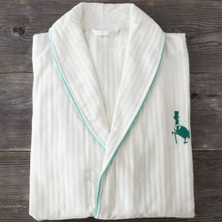 Baumwollwaffel-Hotel-Stickerei-Pyjama-Bademantel 100%