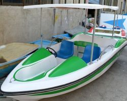 Parque Acuático 4-5 pasajeros Barco eléctrico de la batería para la venta