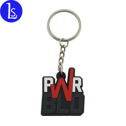 Commerce de gros porte-clés Logo personnalisé lettres personnalisées en PVC souple en caoutchouc Anneau de clé