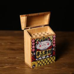 Logo personnalisé en bois chaleureux de luxe cadeau de promotion de Noël d'emballage de vente d'usine Cigarette cas