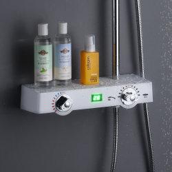 Chuveiro digital com Plataforma de prateleira, Expansor termostático Chuveiro Torneira Misturador Definido